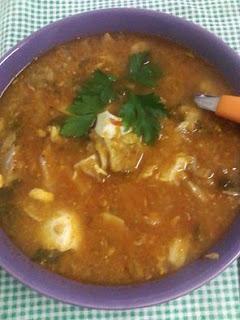 Sopa de peixe – uma sopa que é uma refeição completa