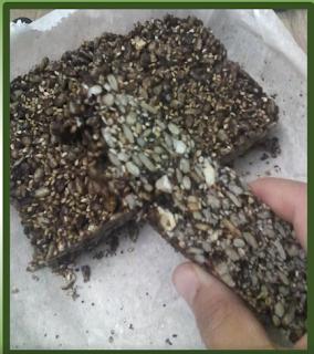 Barritas de sementes ao Meu Estilo Paleo
